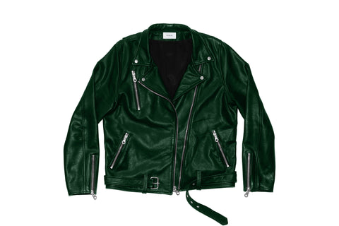 Leather Brando Jacket - Hunter