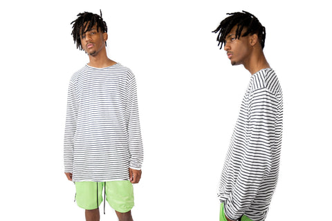 Long Sleeve - Striped (White/Black)