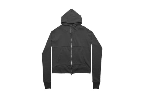 French Terry Full Zip - Vintage Black