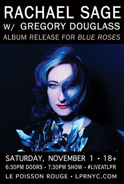 "Limited Edition ""Blue Roses"" NYC CD Release Poster"