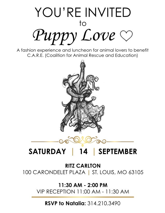 PUPPY LOVE!❤️ A Fashion Experience & Luncheon - September 14th, Ritz Carlton