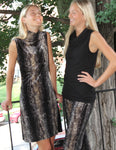 SnakeSkin Velvet Shift Dress