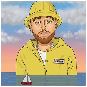 "Mac Miller 20""x20"" Canvas Print"
