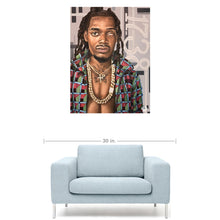 "Load image into Gallery viewer, Fetty Wap 18""x24"" Canvas Print"