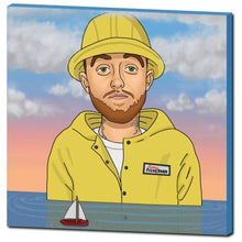 "Load image into Gallery viewer, Mac Miller 30""x30"" Canvas Print"
