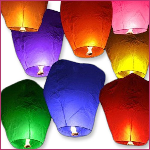 Color Sky Lanterns