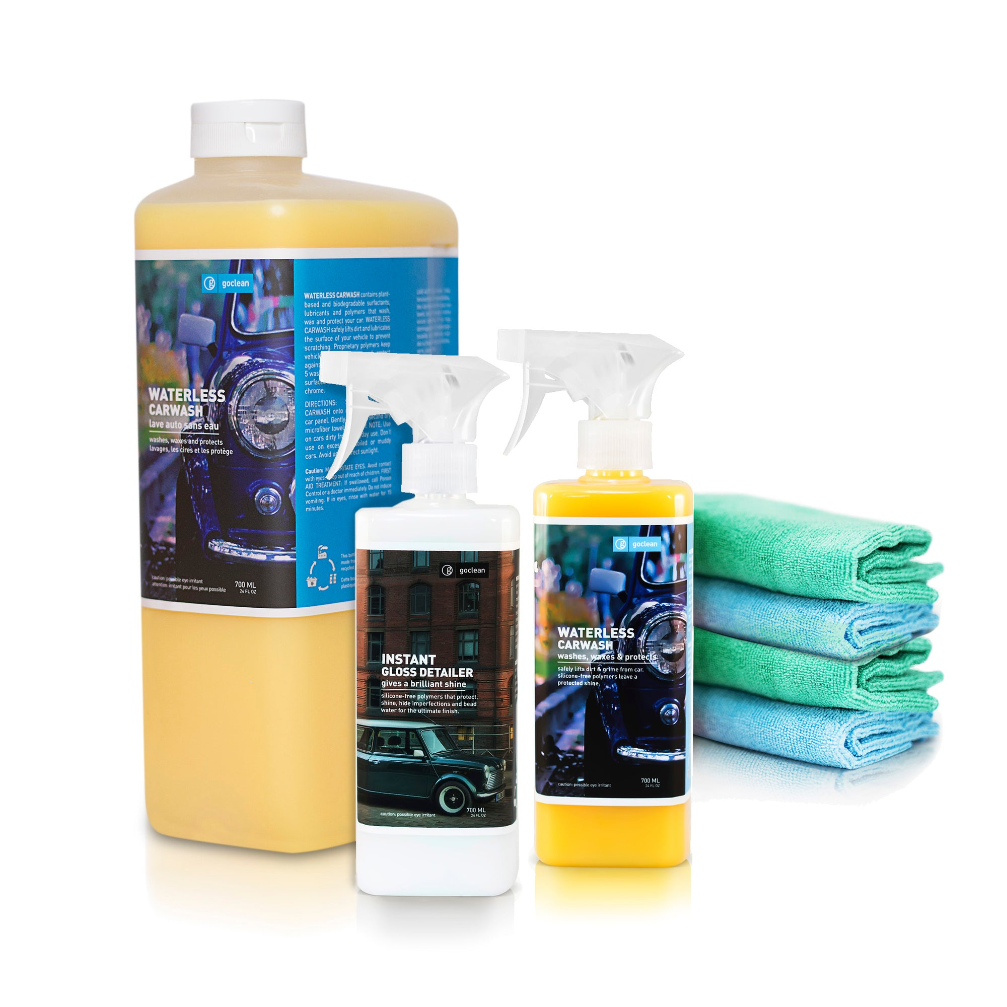waterless car wash and polish kit