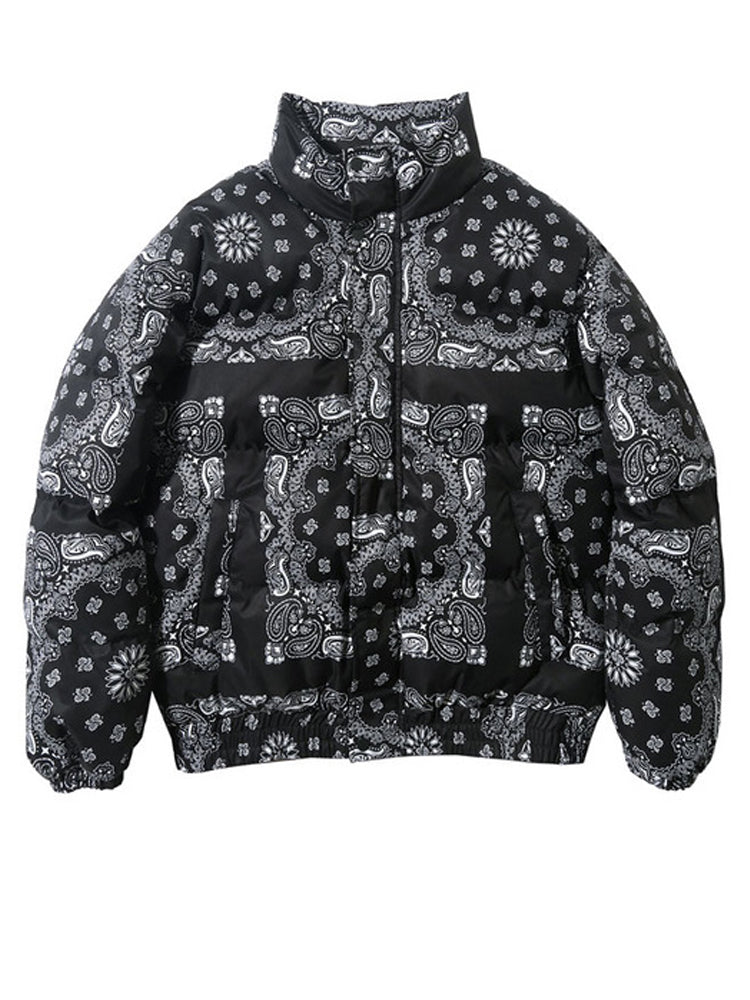 Bandana Puffer Jacket Denimdclothing