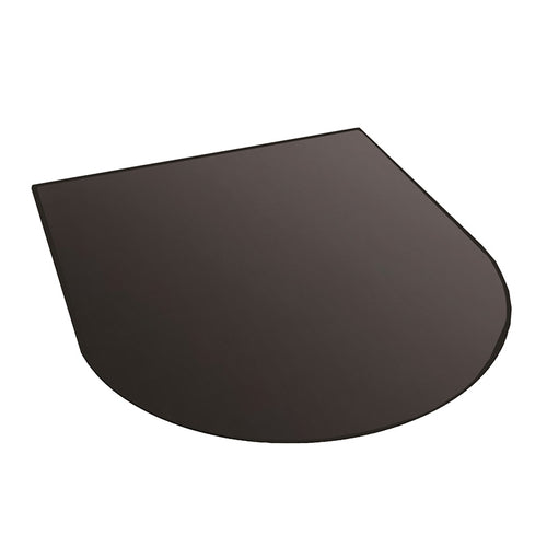 Black Glass Hearth - Half Moon