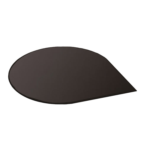 Black Glass Hearth - Teardrop