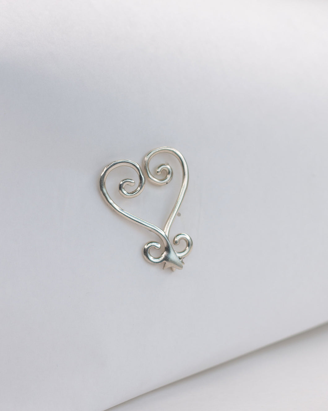 Sankofa- Split Image, Sterling silver Sankofa earrings.