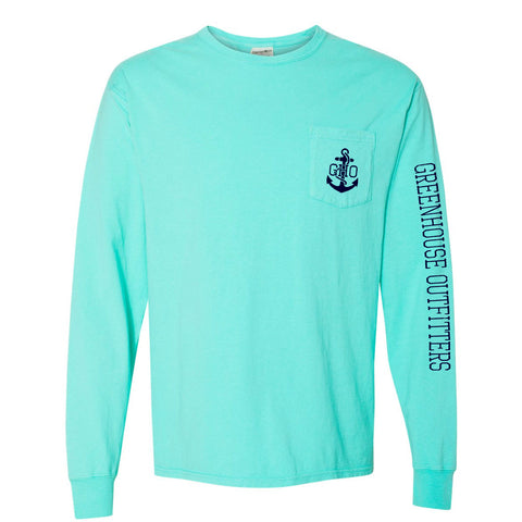 Grand Lake Unisex Long Sleeve Pocket T