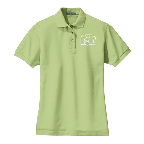 PHOTOG Ladies Cotton Pique Polo