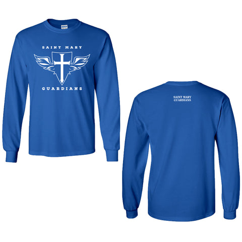 St. Mary Shield - Youth/Adult Long Sleeve Cotton T-Shirt