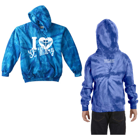 St. Mary Heart - Youth/Adult Tie-Dye Hoody