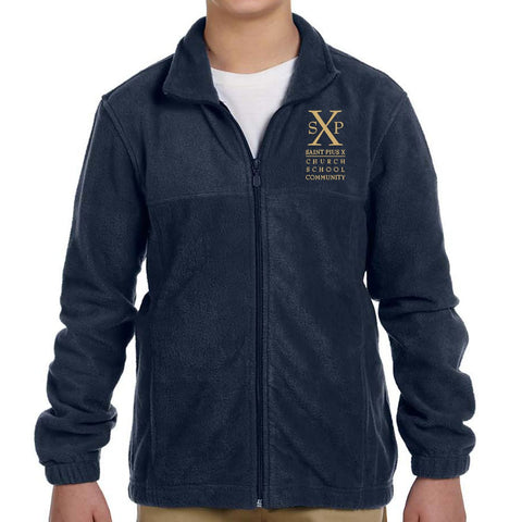 St. Pius X - Youth/Adult Full Zip Fleece Jacket