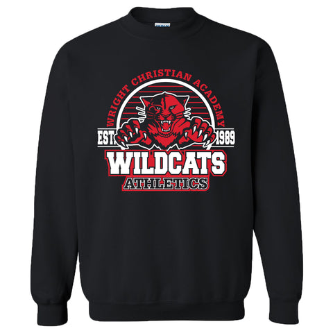 "Wright Christian - ""Wildcats"" Crewneck Sweatshirt"