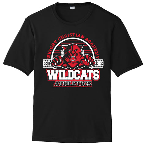 "Wright Christian - ""Wildcats"" Short Sleeve Performance T"