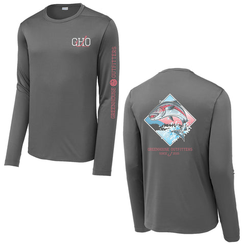 Salmon Unisex Performance Long Sleeve T