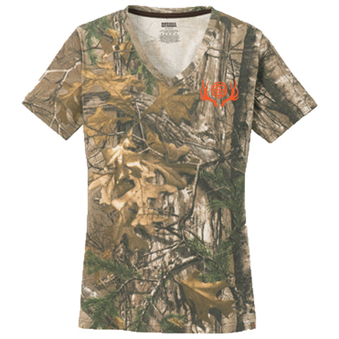 On Point Camo Women's Short Sleeve V-Neck
