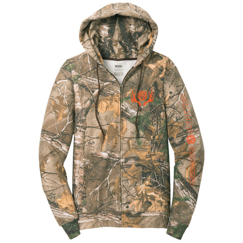 On Point Camo Unisex Zip Hood Sweatshirt