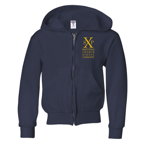 St. Pius X - Full-Zip Hooded Sweatshirt
