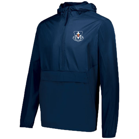 St. Mary Crest Wear - 1/4 Zip Hooded Packable Pullover