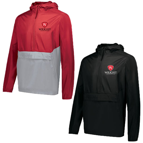 Wright Christian - 1/4 Zip Hooded Packable Pullover