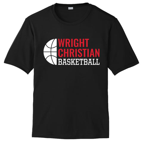 Wright Christian - Basketball Short Sleeve Performance T