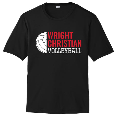 Wright Christian - Volleyball Short Sleeve Performance T