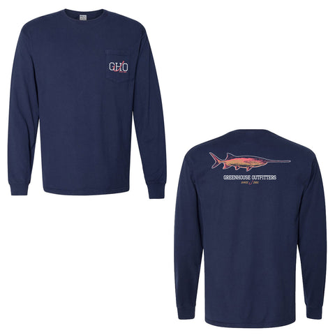 Paddlefish Unisex Long Sleeve Pocket T