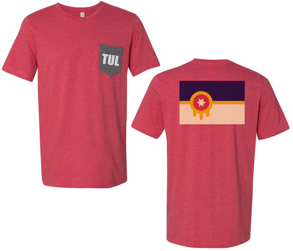 TUL Flag Unisex Short Sleeve Pocket T
