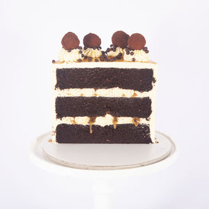 CHOCOLATE SALTED CARAMEL CAKE (Non gluten containing ingredients)