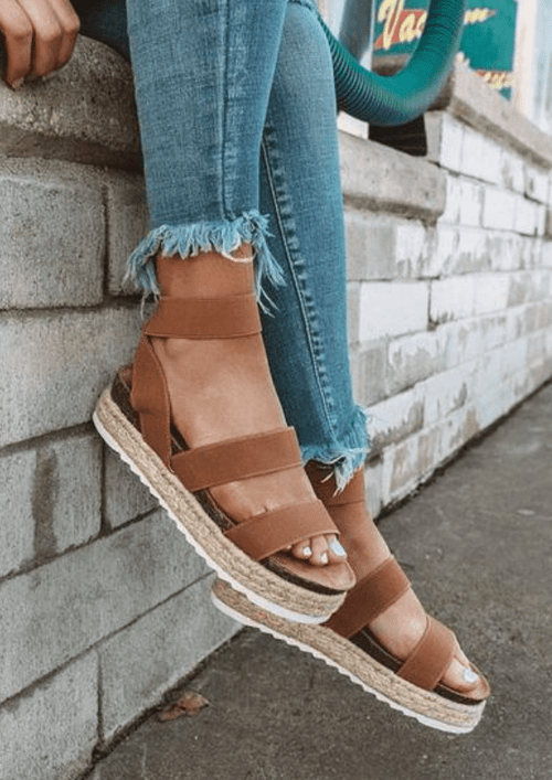 Brown casual sandals