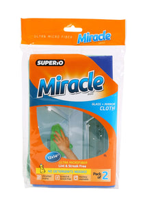 Ultra Microfiber Glass & Mirror Cloth - 2 Pack
