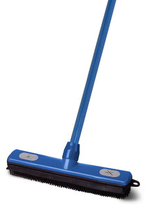 Rubber Broom and Squeegee with 50 in. Metal Handle.