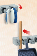 Load image into Gallery viewer, Mop And Broom Holder, Wall Organizer, 3 Slots and 4 Hooks