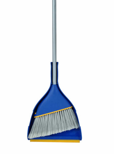 Angle Broom w/Clip-On Dust Pan
