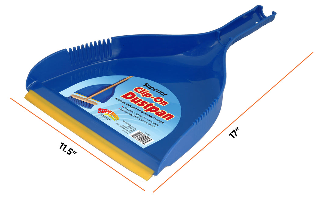 Angle Broom with Clip-on Dustpan Set