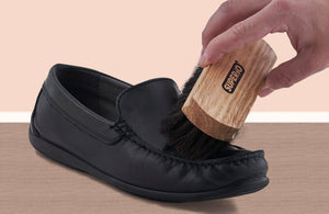 Shoe Brush with Horse Hair Bristles