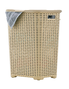 wicker Style Laundry Hamper, 60 Liter.