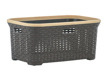 Load image into Gallery viewer, 50-liter Wicker Style Laundry Basket with Cutout Handles.