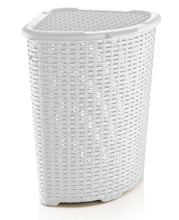 Load image into Gallery viewer, Corner Laundry Hamper Wicker Style