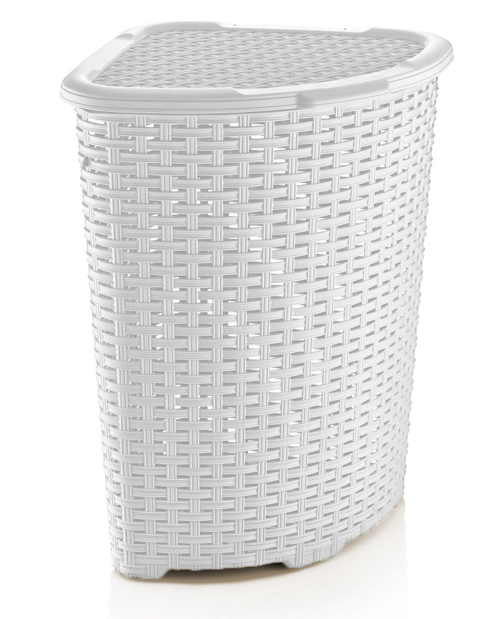 Corner Laundry Hamper Wicker Style