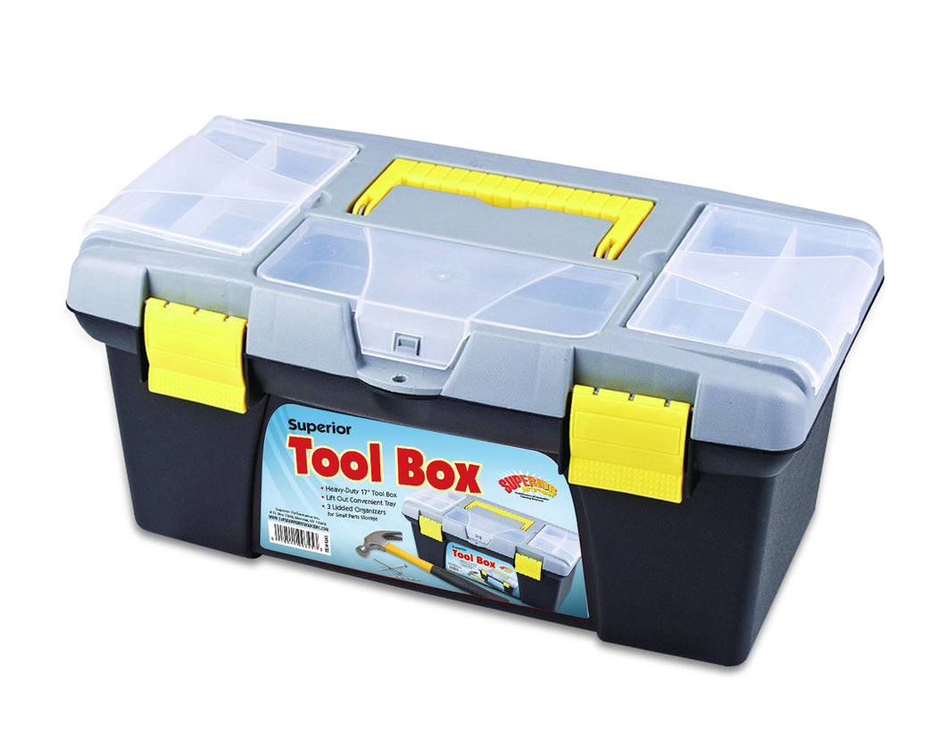 Compact Tool Box with Convenient Lift Out Tray
