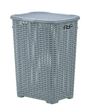 Load image into Gallery viewer, wicker Style Laundry Hamper, 60 Liter.