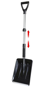 Extendable Car Snow Shovel with Foam Grip Handle