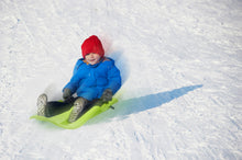 "Load image into Gallery viewer, 35"" Green Downhill Brake Snow Sled."