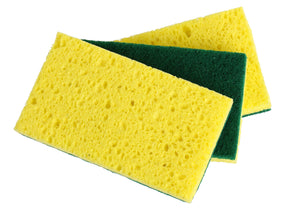 Heavy Duty Cellulose Scrub Sponge (12 X 7 X 2 cm -3-pack.)