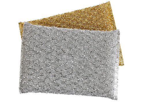 Shiny Sponge - Silver and Gold (2-pack)